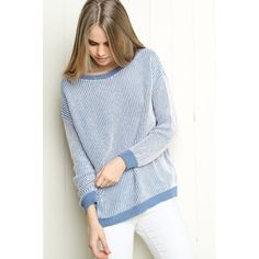 Cara sweater Rare? Blue sweater, oversized. Worn once for less than an hour. Brandy Melville Sweaters