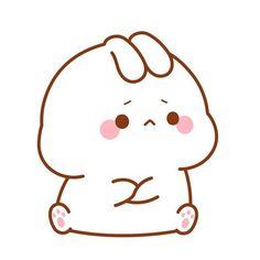 Cute Bunny Cartoon, Cute Cartoon Images, Cute Kawaii Animals, Cute Cartoon Wallpapers, Cute Bear Drawings, Cute Cartoon Drawings, Kawaii Drawings, Cute Black Wallpaper, Wallpaper Iphone Cute