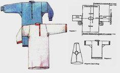 Kosovorotka – Russiapedia Of Russian origin New Shirt Design, Shirt Designs, Folk Fashion, Vintage Fashion, Vintage Style, Russian Men, How To Make Rope, Tunic Pattern, Fantasy Costumes