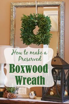How To Make a Square Boxwood Wreath, step by step tutorial. Make it for cheap!!
