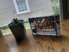 Horse themed gifts and glassware. Our glass block with embedded clock makes for a beautiful piece on a bed side table or desk. Glass Blocks, Horse, Clock, Desk, Gift Ideas, Table, How To Make, Gifts, Beautiful