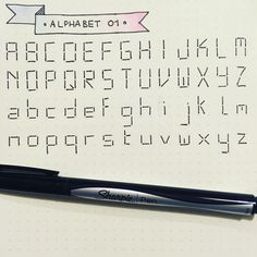 Alphabet practice! Digital lettering