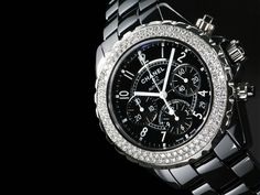 Black Ceramic Watch this is gorgerous i have a white one that is very similar with diamonds and wide band i love it!