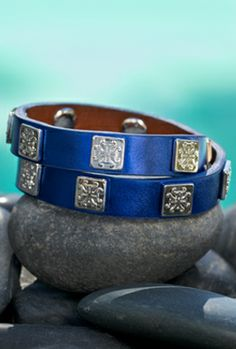 Rustic Cuff Meagen Wrap Sea Power Navy Blue from the 2013 Collection • To order from the 2013 Collection, click on this picture and make a request with our customer service team. Limited quantities available.