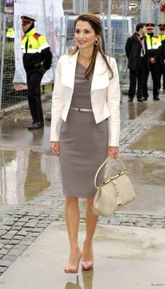 Queen Rania in Barcelona for the Mobile World Congress, 2010.