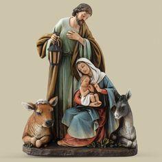 Silent Night Holy Family Nativity Figurine by Roman