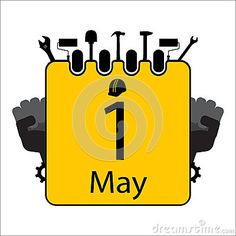 Happy Labour Day with calendar