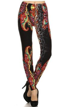 Elegant4U Junior's Printed Unique Henna Pattern Fashion Leggings
