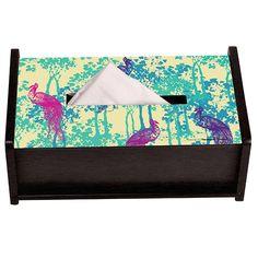 Ranthambore Peacock Tissue Box Holder by The Elephant Company