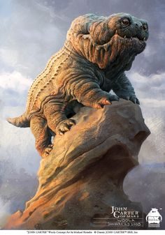 "Concept art of ""Woola"" from the ""John Carter"" film by artist Michael Kutsche"