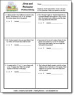 Area and Perimeter Word Problems Freebie from Laura Candler's Geometry File Cabinet