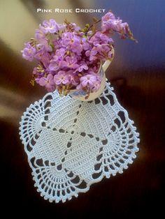 \ PINK ROSE CROCHET /: Centrinho Square - Crochet