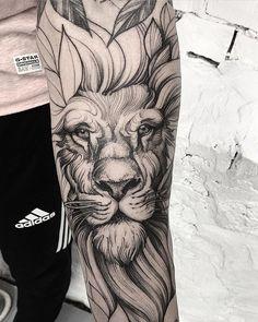 Search inspiration for a Blackwork tattoo. - Search inspiration for a Blackwork tattoo. Wolf Tattoos, Lion Head Tattoos, Elephant Tattoos, Feather Tattoos, Forearm Tattoos, Animal Tattoos, Black Tattoos, Body Art Tattoos, Black Work Tattoo