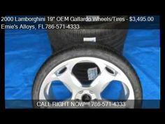 "2000 Lamborghini 19"" OEM Gallardo Wheels/Tires - for sale Miami Fl. 33054 http://www.oemcarwheels.com/inventory.aspx"