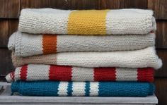 simple striped blankets--best part is that they're both knitted and nautical!