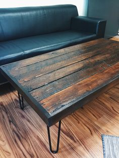 Pallet Coffee Table with hairpin legs!