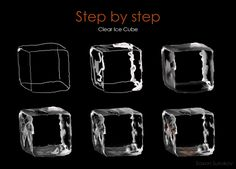 Step by step Clear Ice Cube by SaxonSurokov.deviantart.com on @DeviantArt