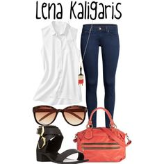 Lena Kaligaris -- The Sisterhood of the Traveling Pants by evil-laugh on Polyvore featuring Gap, H&M, Forever 21, Me & Zena, River Island, lenakaligaris and thesisterhoodofthetravelingpants