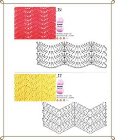crochet ripple stitch-widen the lace panels Punto Zig Zag Crochet, Crochet Stitches Chart, Crochet Ripple, Crochet Diagram, Crochet Motif, Free Crochet, Crochet Zigzag, Chevron Crochet Patterns, Zig Zag Pattern