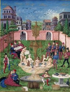 The Garden of Love or The Fountain Of Life. Singers & Musicians In A Garden Miniature From De Sphaera By Leonardo Dati 1470 Italy
