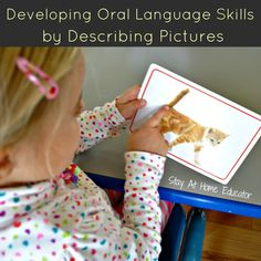 Developing oral language skills by describing pictures - Stay At Home Educator