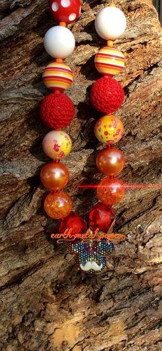 Cinna Minnie Chunky Bubble Gum Bead Necklace by EarthMetalPaper