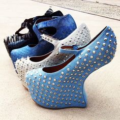 I must have them all I would always fall down but they are awesome #JeffreyCampbell #urbanoutfitters