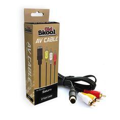 Old Skool Sega Saturn Audio Video (A/V) Stereo Composite RCA Cable  6FT #OldSkool