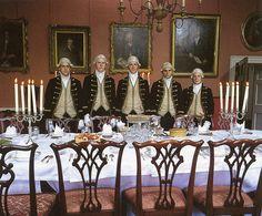 The footmen in Regency house party.
