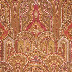 ANICHINI Fabrics | Residential Collection | Tasmania Mocha/Red