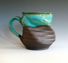 Twisted Coffee Mug handmade ceramic cup ceramic by ocpottery