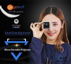 GOGO MICRO DLP Projector Portable WIFI Wireless Mobile Projector conne – GOGO STUFF