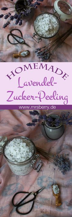 Peeling selber machen: entspannendes Lavendel-Zucker-Peeling Make yourself scrub: Lavender sugar scrub. Made from only 4 ingredients, this fragrant and relaxing facial peel and body scrub. Other exfoliation ideas & recipes: mrsberry. Body Scrub Recipe, Diy Body Scrub, Diy Scrub, Lavender Sugar Scrub, Sugar Scrub Diy, Diy Shampoo, Homemade Shampoo, Diy Beauty Organizer, Zucker Schrubben Diy