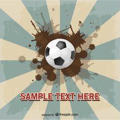 Soccer suburst vector template design  Free Vector