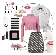 """""""A hint of pink..."""" by mollyhatch on Polyvore featuring Versace, Boohoo, MAKE UP STORE, Bobbi Brown Cosmetics, River Island, Philipp Plein, Kate Spade, New Directions and Lime Crime"""