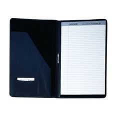 Royce Leather Legal Size Writing Pad Holder Top Grain Nappa Leather 755-BLACK-5