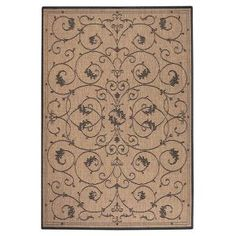 Home Decorators Collection Tendril Cocoa 5 ft. 3 in. x 7 ft. 6 in. Area Rug-4393820210 at The Home Depot