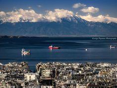 Thessaloniki - Greece Thessaloniki, Seattle Skyline, Greece, Mountains, Places, Nature, Macedonia, Uber, Pictures