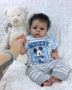 Dominic by Laura Tuzio Ross - Online Store - City of Reborn Angels Supplier of Reborn Doll Kits and Supplies Bb Reborn, Reborn Baby Boy Dolls, Silicone Reborn Babies, Silicone Baby Dolls, Newborn Baby Dolls, African American Baby Dolls, Life Like Baby Dolls, Black Baby Dolls, Fake Baby