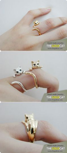 Okay, sardonic witticisms aside, this is an adorable ring, and unlike other jeweled interpretations of animals, this one doesn't look like a geometry student made a kitty out of geodesic domes *cough*, Swarovski, *cough*