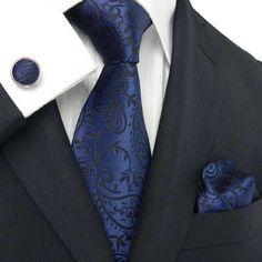 men/'s tie sets tie with matching hankercheif /& cufflink /& tie in 2 colours