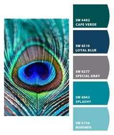 peacock color scheme bedroom create a paint palette using sherwin williams chip it 16634