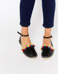 What's better than party? Pom-poms! Novelty Pom Pom Espadrilles have a faux leather upper with the most festive detailed trim - get even more style and shopping inspiration on http://jojotastic.com/shop-my-favorites/