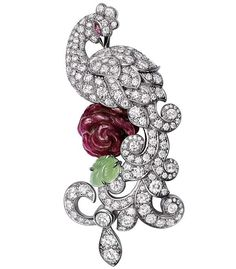 The Cartier Fabuleux Peacock brooch is a diamond, ruby and sapphire studded stunner worth owning.