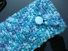 Glasses/Sunglasses Case in Blues and Purples by GreatGreenDreams, £6.50
