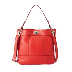 #Fossil #handbag #leather #red #luxury #shopper #bags