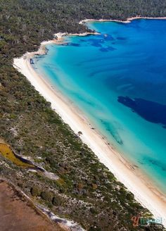Hazards Beach in Freycinet National Park - one of the best places to visit in Tasmania, Australia