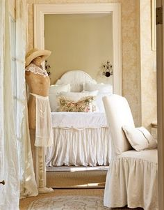 Love the chair and the bedskirt
