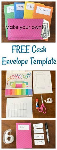 cash envelope budget system envelope template print on paper of