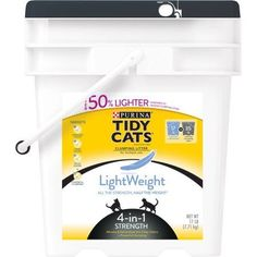 Purina Tidy Cats Clumping Litter, LightWeight 4-in-1 Strength for Multiple Cats, 17 lb. Pail